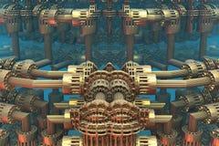 Компьютер представил виртуальный пейзаж Стоковые Фотографии RF