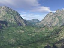 компьютер произвел пейзаж горы Стоковое Фото