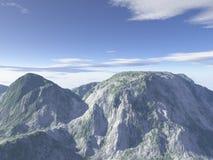 компьютер произвел пейзаж горы Стоковые Изображения RF