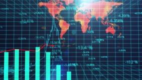 Компьютер произвел представление обзора мирового рынка, статистического анализа бесплатная иллюстрация