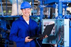 Компьютер промышленного инженера Стоковое фото RF