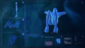 Компьютер рентгенизируя человеческое тело иллюстрация вектора