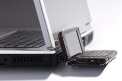 компьютер связиста против Стоковые Изображения RF
