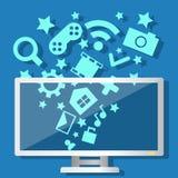 Компьютер технологии средств массовой информации Стоковое фото RF