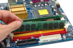 компьютер устанавливая штоссель Стоковое Изображение RF