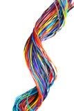 компьютер цвета кабеля с оплеткой Стоковое Изображение
