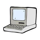 компьютер шуточного шаржа старый иллюстрация штока