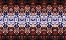 Компьютер 3d конспекта уникальный художественный произвел промежуточную бесконечную предпосылку художественного произведения карт иллюстрация вектора