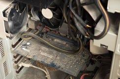 Компьютер Durty пылевоздушный Стоковое Изображение
