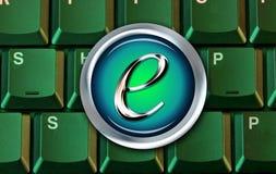 компьютер e коммерции кнопки Стоковое Изображение