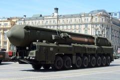комплекса ядерной ракеты Topol-M lThe цель междуконтинентального баллистического стратегическая Стоковая Фотография