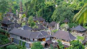 Комплекс виска увиденный сверху в Ubud, Бали Стоковое Фото
