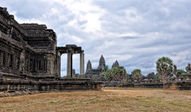 комплекс виска Angkor Wat стоковое фото