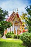 Комплекс виска Wat Chalong в Пхукете, Таиланде Стоковое Изображение