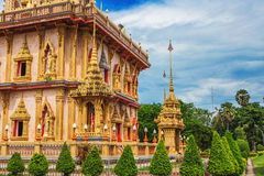 Комплекс виска Wat Chalong в Пхукете, Таиланде Стоковое фото RF