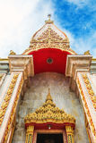 Комплекс виска Wat Chalong в Пхукете, Таиланде Стоковое Изображение RF