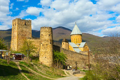 Комплекс замка Ananuri на реке Aragvi в Georgia Стоковое Фото