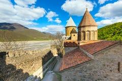 Комплекс замка Ananuri на реке Aragvi в Georgia Стоковое Изображение