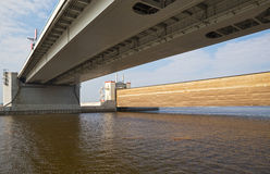 Комплекс объекта предохранения потока Санкт-Петербурга Стоковое фото RF