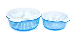 2 комплекта пластичной корзины с ушатом Стоковая Фотография RF
