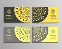 Комплекты визитных карточек мандалы иллюстрация штока