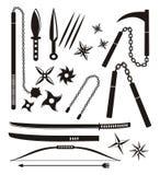 Комплекты оружия Ninja Стоковое Изображение