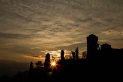 Комплекты солнца на Faenza Стоковые Изображения