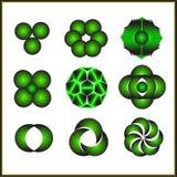 Комплекты шаблонов логотипа Стоковое Изображение RF