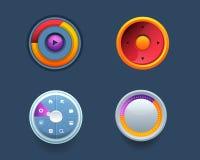 Комплекты Ui кнопки шаблона сети вектора иллюстрация штока