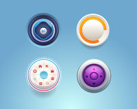 Комплекты Ui кнопки шаблона сети вектора Стоковое Фото