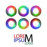 Комплект абстрактного шаблона логотипа бесконечного цикла Стоковые Изображения RF