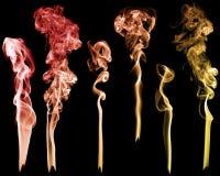 Комплект абстрактного дыма цвета Стоковое Фото