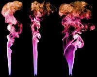 Комплект абстрактного дыма цвета Стоковая Фотография