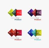 Комплект абстрактной квадратной кнопки навигации меню интерфейса Стоковое Фото