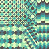 Комплект абстрактной ретро геометрической картины Стоковая Фотография