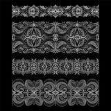 Комплект абстрактных безшовных лент шнурка вышивки Стоковые Фото