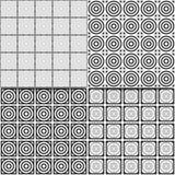 Комплект 4 абстрактных безшовных предпосылок вектора Стоковое Фото