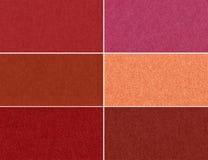 Комплект абстрактных блестящих текстур терракоты. Стоковые Изображения RF