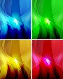 Комплект абстрактных волнистых предпосылок 2 Стоковые Изображения
