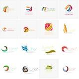 Комплект абстрактных волнистых элементов Круги, свирли и Стоковые Изображения RF