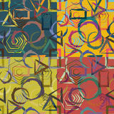 Комплект абстрактных геометрических безшовных картин Стоковое Изображение RF