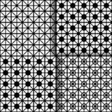 Комплект 4 абстрактных геометрических предпосылок Стоковые Изображения RF
