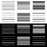 Комплект абстрактных геометрических элементов с линиями в черно-белом Стоковое фото RF