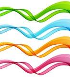 Комплект абстрактных закоптелых волн Брошюра шаблона Стоковая Фотография RF