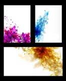 Комплект абстрактных карточек Стоковые Изображения RF
