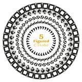 Комплект 5 абстрактных кругов вектора на белизне Стоковая Фотография RF