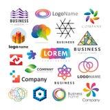 Комплект абстрактных логотипов дела Стоковое Фото