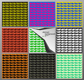 Комплект абстрактных предпосылок с спиралями Стоковое Фото