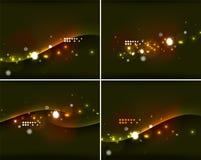 Комплект абстрактных предпосылок с copyspace Стоковое Изображение