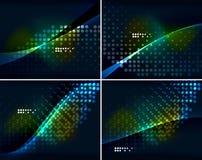 Комплект абстрактных предпосылок с copyspace Стоковое фото RF